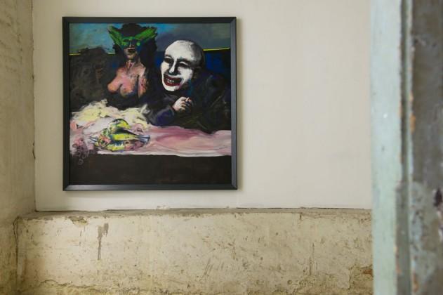 Beckmann trifft Goya im Vagabund, 2011, 150x150